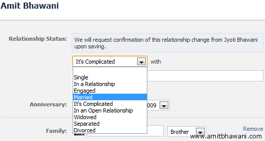 the exact way how you can change the facebook relationship status and ...